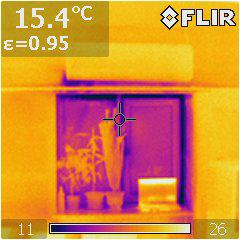 пластиковое окно тепловизор.
