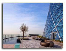 ОАЭ. Абу Даби. Hyatt Capital Gate Abu Dhabi 5*. Pool