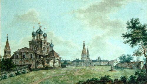 Вид села Коломенское, ок. 1800 г.
