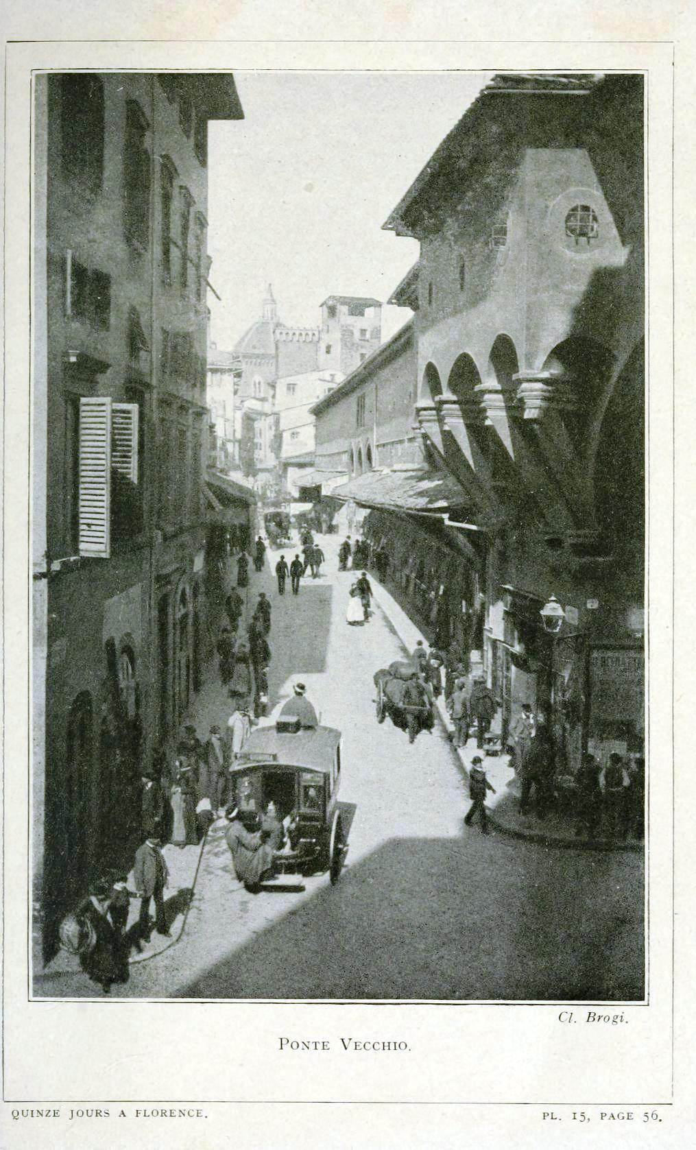 Quinze jours a Florence; ouvrage illustre de cent huit gravures et de 16 plans (1913). Scan of 2 d images in the public domain believed be free to use without restriction in the U.S.