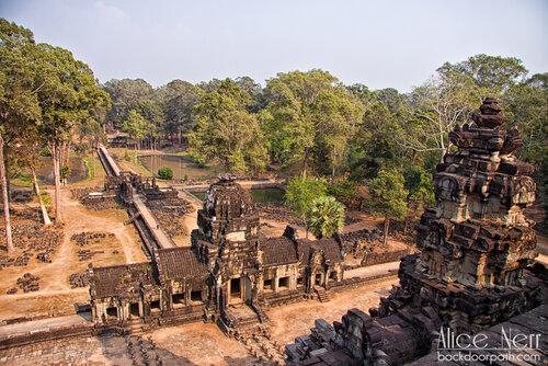 вид с храма на территории Ангкор Том, Angkor Thom