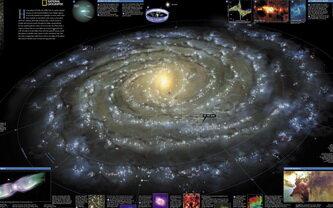 Карта-схема нашей Галактики.