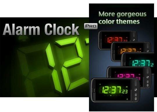 Приложение Alarm Clock Pro для Android OS