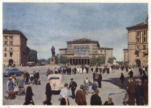 Фото 2. Ленинград. Площадь им. М. И. Калинина, 1959 г. Советская открытка.