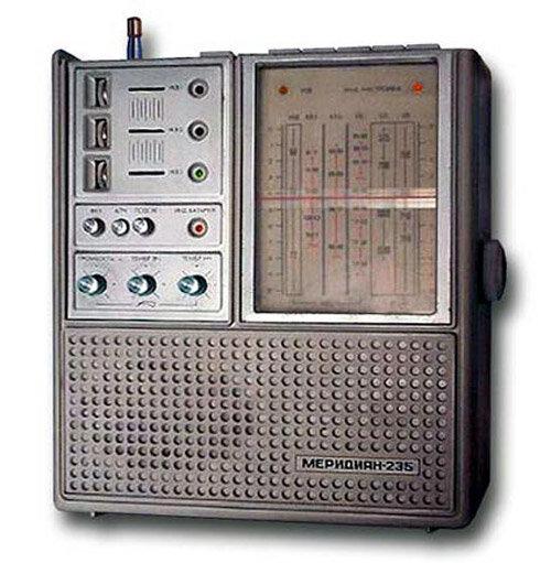 Размер - 69Kb.  Помню, в 1987-м купил новый, но уцененный переносной радиоприемник Меридиан-235 за 60 руб.