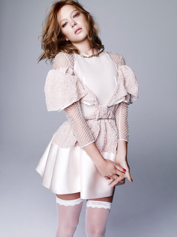 Леа Сейду в новом выпуске журнала Dazed & Confused Korea