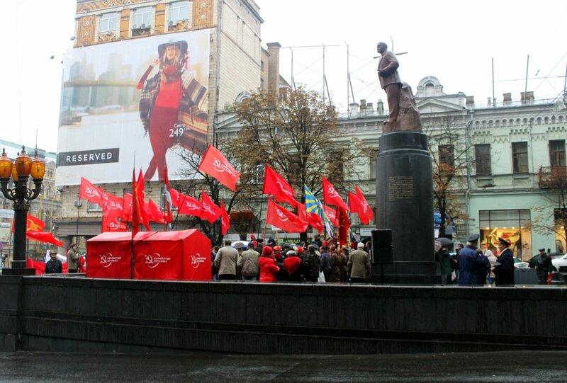 Митинг коммунистов на Бессарабской площади
