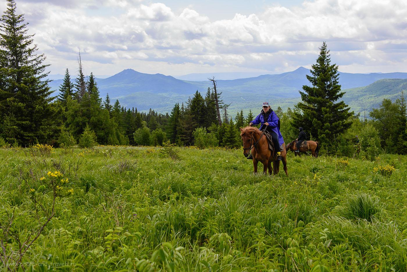 4. Турбаза Малиновка. Поход на лошадях на Ялангас. Прекрасные виды в горах Башкирии (100, 40, 6.3, 200)