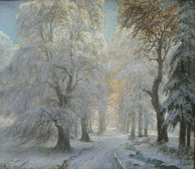 Петер Буш (Peter Busch) (1861 – 1942 гг.) Зимний лес