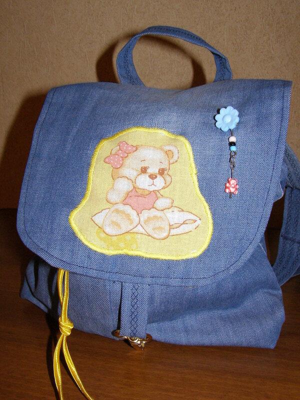 Сшить рюкзак для ребенка из джинсов своими