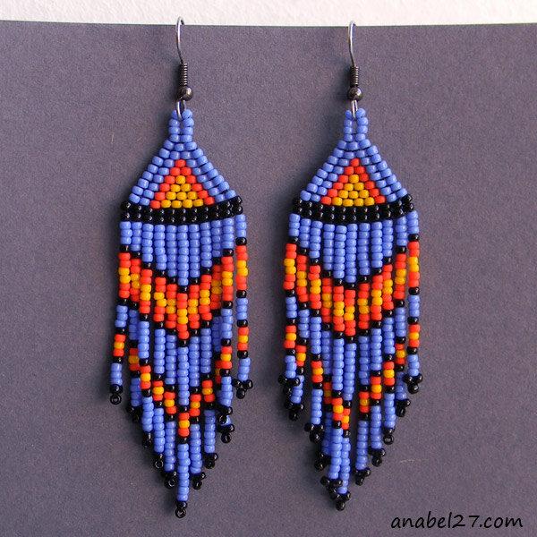 бисерные серьги купить украина сережки из бисера