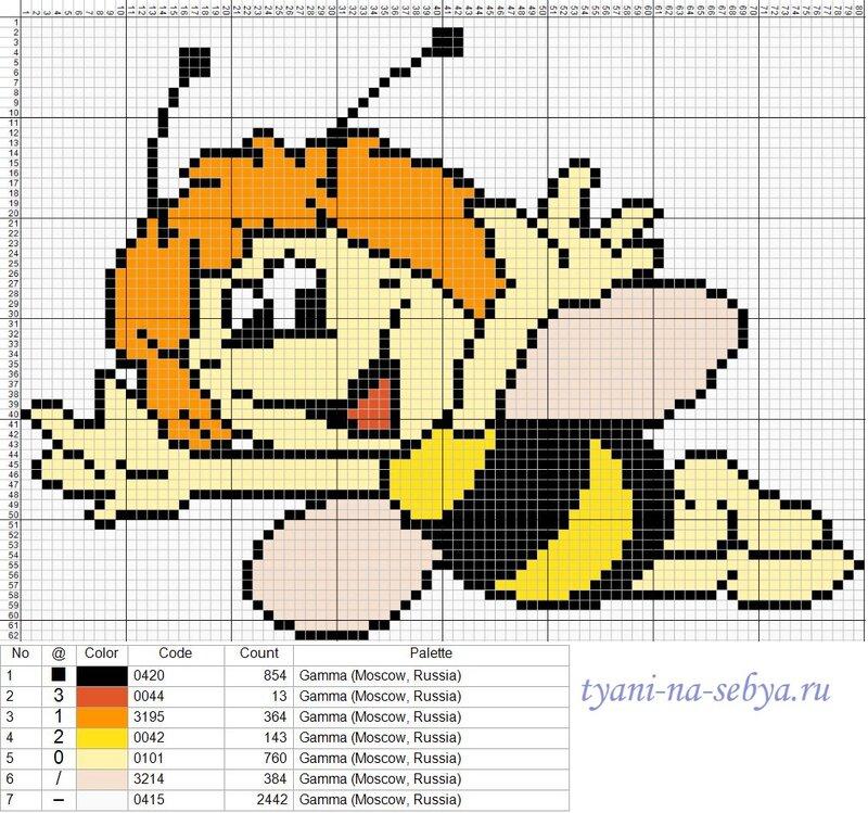 Схему вышивки крестом пчелка 19