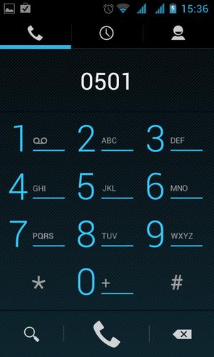 Alcatel OT-993D, скриншот
