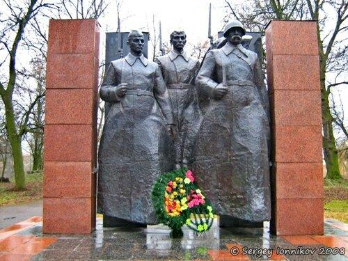 Андрушівка Алея Слави в садибі Терещенко березень 2008