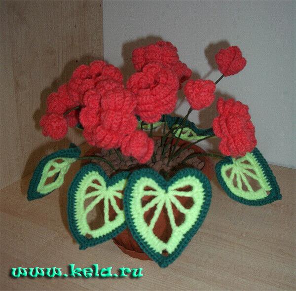 домашний уют. домашние цветы. интерьерные цветы. креативное рукоделие. цветы крючком.  Вязаные цветы, цветок в горшке...