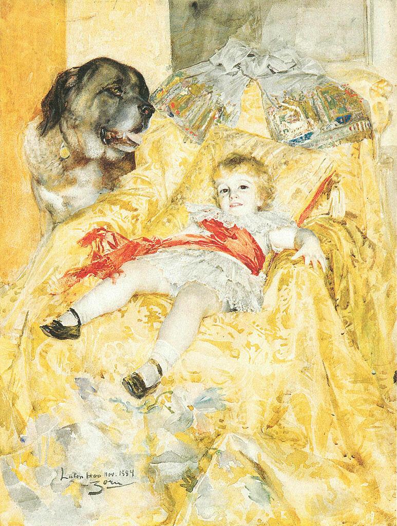 Drengen Falbe, 1884. by Anders Zorn.