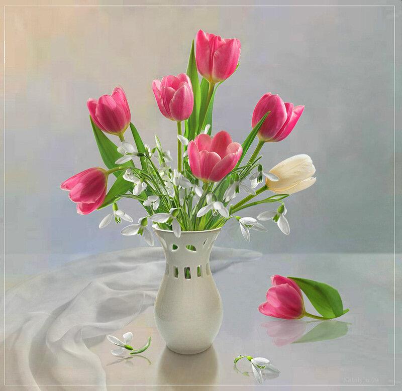 натюрморты фото цветов: