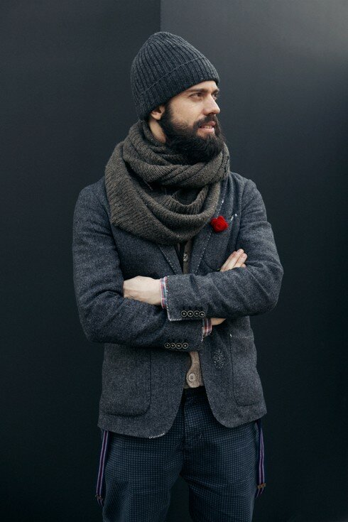 Мужские белые шарфы 12