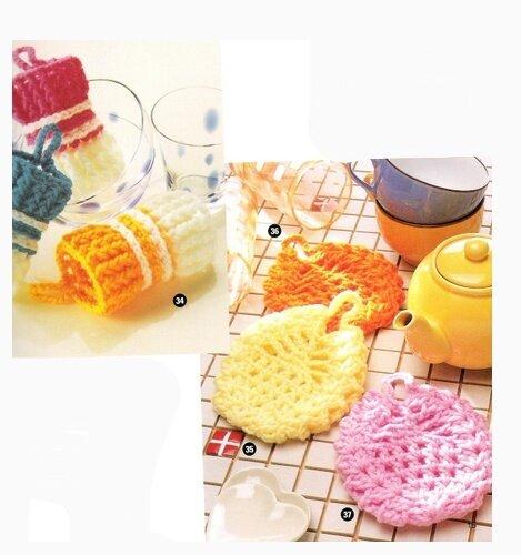 Вязание крючком мелочи для дома и кухни 40