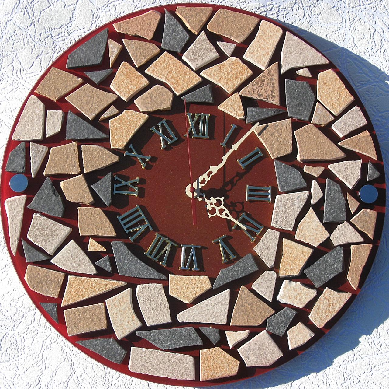 Как сделать часы с камнями 414