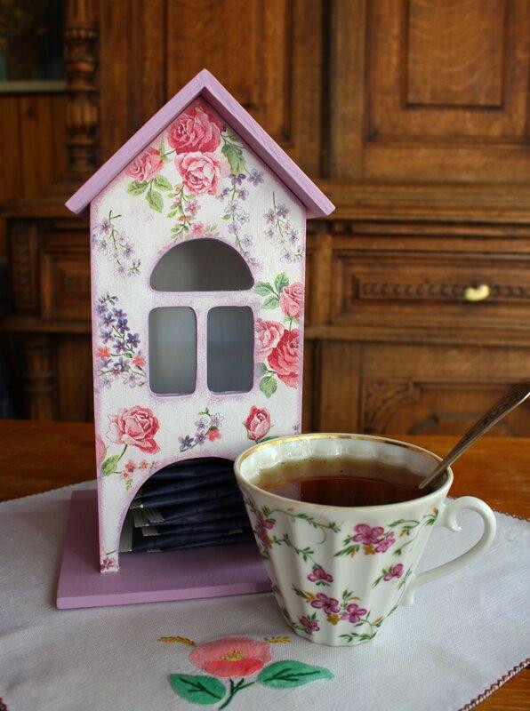 Как сделать чайный домик для чайных пакетиков 95