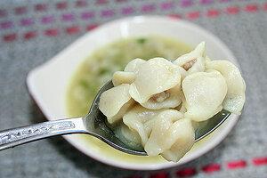 Дюшбара - суп с пельменями по-азербайджански. Готовое блюдо
