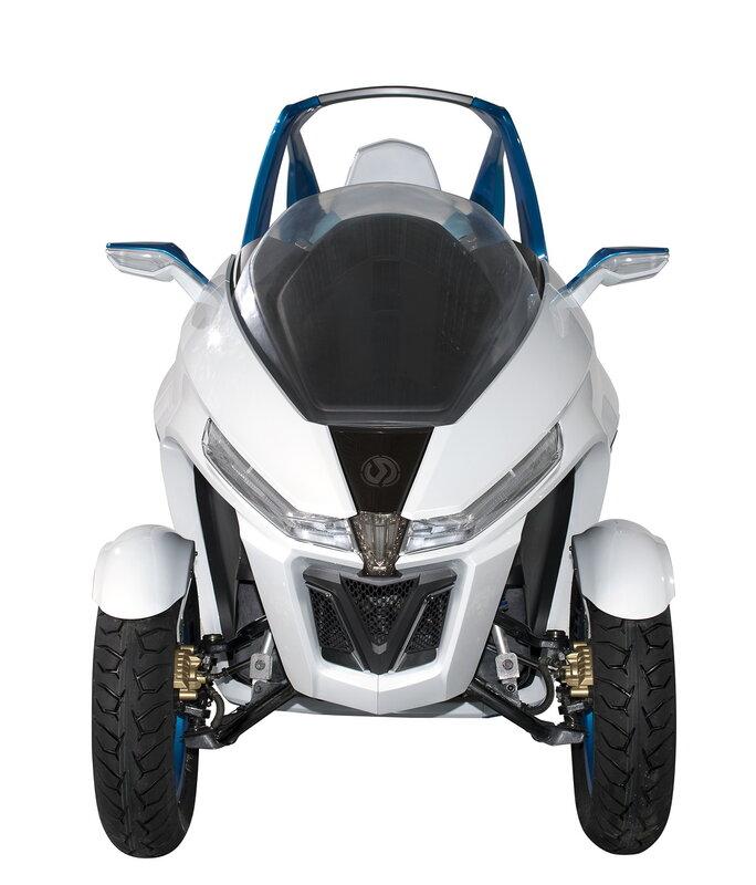 Выставка Intermot 2012: концепт электрического трёхколёсного скутера SYM EX3.