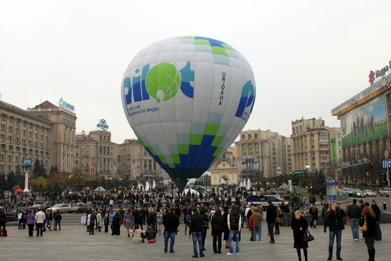 Воздушный шар на Майдане Незалежности