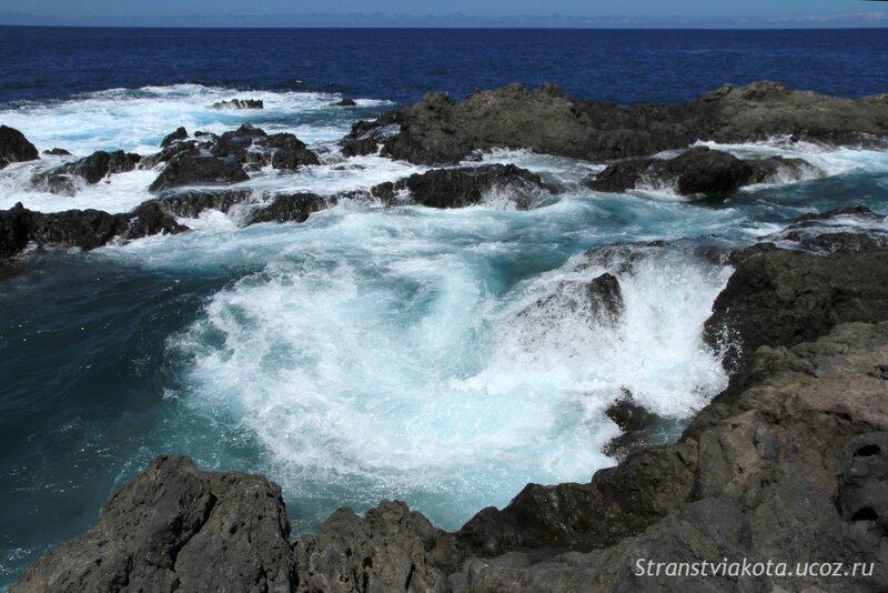 Тенерифе, Гарачико, естественные бассейны Caleton