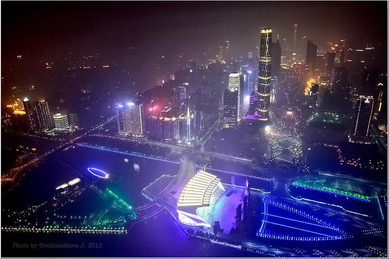 Вид с телевышки Гуанчжоу