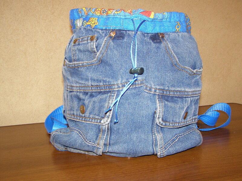 Сшить рюкзак для ребенка из джинсов своими руками