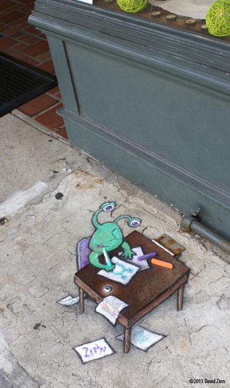 Позитивный стрит-арт by David Zinn