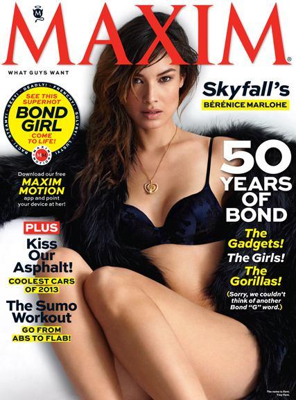 007 Berenice Marlohe / новая -девушка Бонда- Беренис Марло на обложке Maxim USA, ноябрь 2012 / фотограф Matt Jones