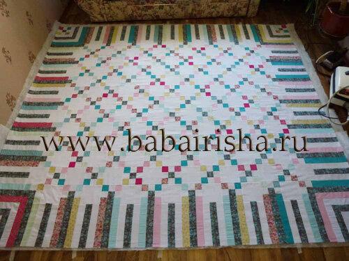расстилание верха одеяла
