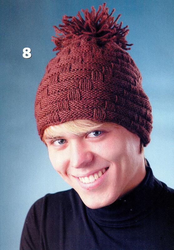 Вязание шапок с помпоном.
