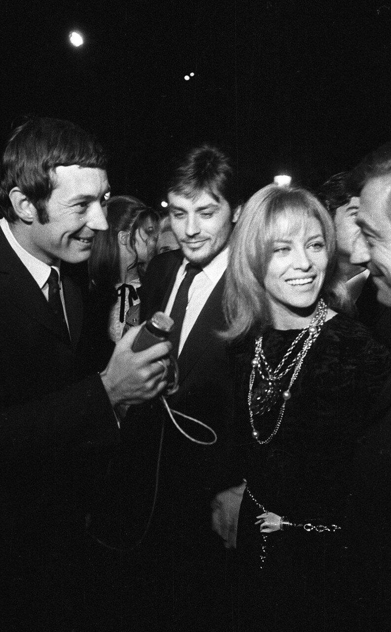 1967. С Натали и Франсуа Перье