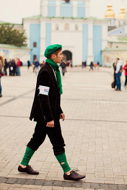 осенний Tweed run в Киеве