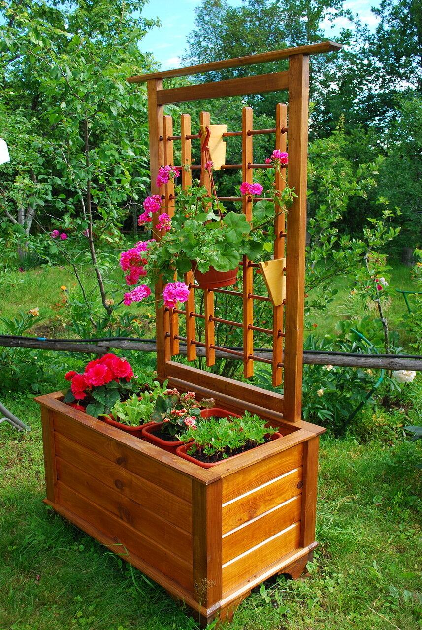 Деревянный ящик своими руками для цветов