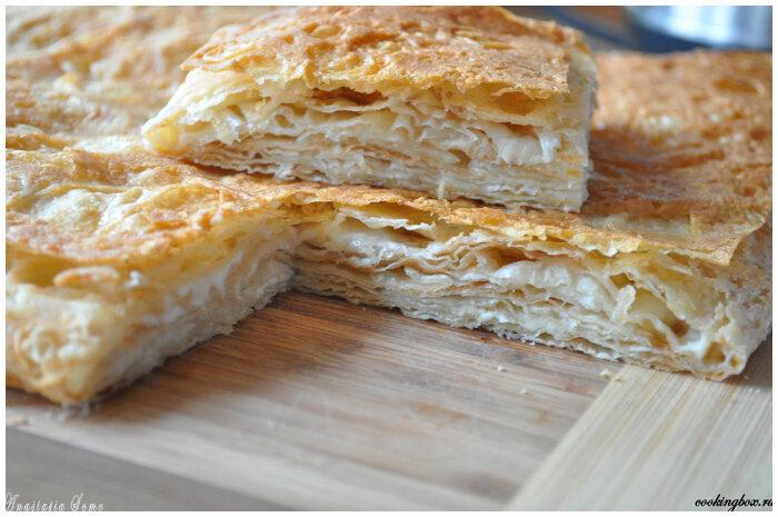 слоеный пирог фото рецепт
