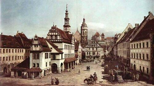 Вид Пирны, рыночная площадь в Пирне. Джованни Антонио Каналетто