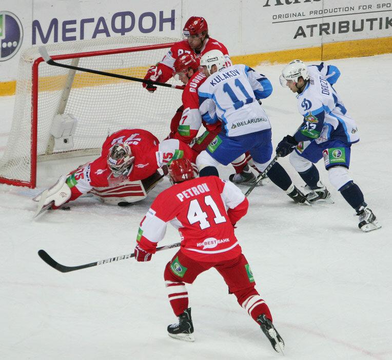 «Спартак» vs «Динамо» (Минск) 4:1 чемпионат КХЛ 2012-2013 (Фото)