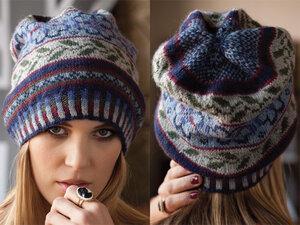 Новый виток англомании - жаккардовая шапка Vogue Наши воплощения