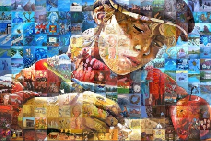 Картины, созданные из картин