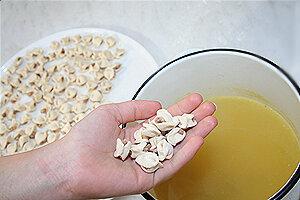 Дюшбара - суп с пельменями по-азербайджански. Варка супа с пельменями