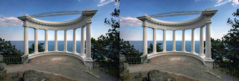 Крым Царская тропа Стереопара, перекрёстная стереопара, 3D, X3D, стерео фото, crossstereopairs, stereo photo, stereoview