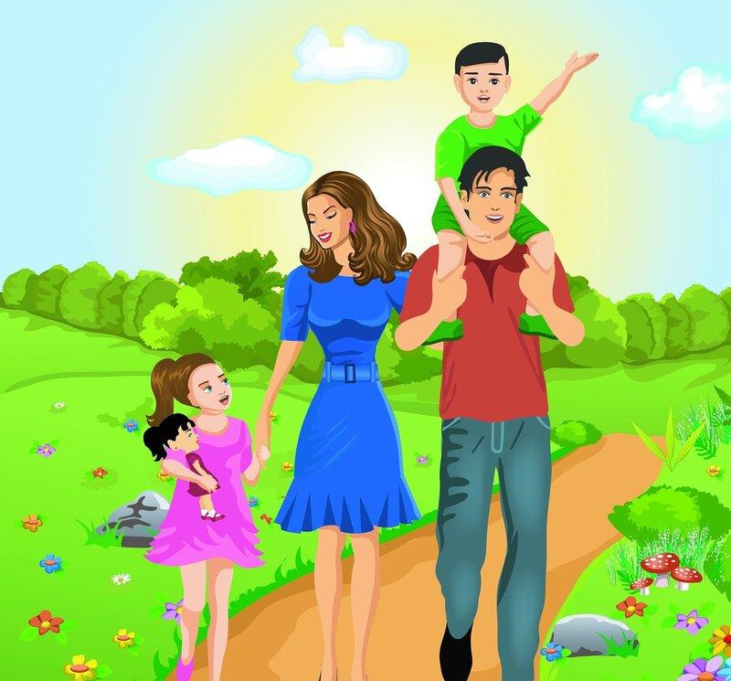 Счастливая семья картинки фото