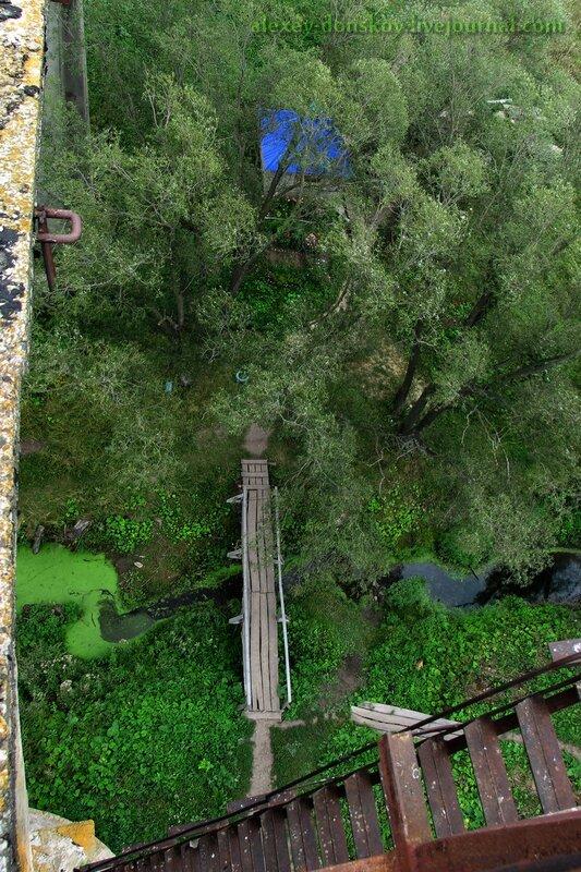 Вид с Мокринского моста на святой источник