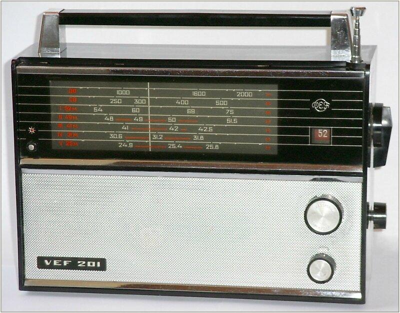 ВЭФ-201портативный. тразисторный радиоприемник 2 класса.
