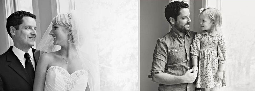 10. Слева: Бен и Али в день свадьбы в 2009 году. Справа: Бен и Оливия в 2013 году.