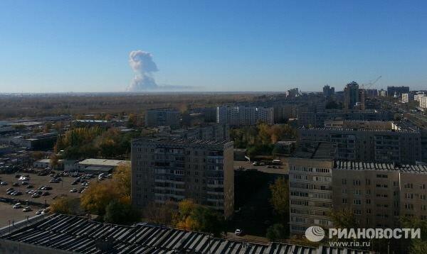 Вид на взрыв